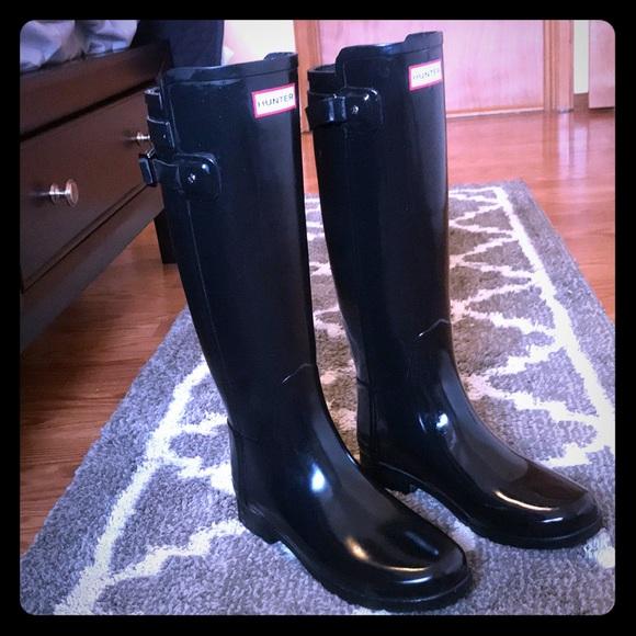 01977277c7d0 Hunter Shoes | Women Original Refined Back Strap Rain Boot | Poshmark